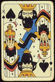 King of Spades - Emil Moestue Custom Playing Cards, Vintage Playing Cards, King Of Spades, Deck Of Cards, Card Deck, Custom Decks, Pretty Art, Card Games, Tarot