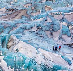 The exotic alien ice terrain of Sólheimajökull Glacier in Iceland ///
