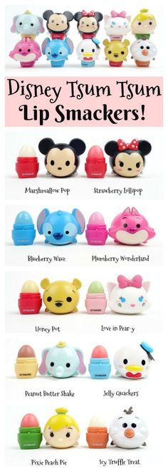 Disney Tsum Tsum Lip Smackers I have the Minnie Mouse one and a Sally one! Disney Diy, Cute Disney, Disney Trips, Disney Pixar, Maquillage Harry Potter, Lipbalm, Eos Lip Balm, Disney Tsum Tsum, Disney Merchandise