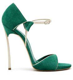 Casadei-Green-Suede-Blade-Silver-Metallic-Strap-Sandals-Fall-2013