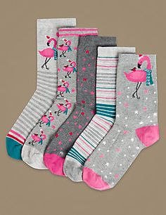 Mens athletic low cut Ankle sock Pink Flower Flamingo life Fit Short Socks
