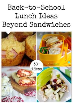 For kids who don't want a sandwich for lunch! Back-to-School Lunch Ideas Beyond Sandwiches from Love these creative and tasty ideas! Lunch Box Bento, Lunch Snacks, Lunch Recipes, Cooking Recipes, Kid Recipes, Back To School Lunch Ideas, Boite A Lunch, Whats For Lunch, Tasty