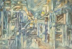 Hanna RUDZKA-CYBISOWA ,Kompozycja , akwarela, gwasz, papier, 70 x 99 cm
