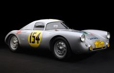 This little brute is the 1953 Porsche 550 Le Mans/La Carrera Panamerica Coupe, and it has a very impressive racing history. It also has very impressive styling. Although many automakers design cars to look streamlined, the 550 coupe is streamlined. It was designed with an eye toward maximum aerodynamic efficiency. It's another example of form and function coming together beautifully in a timeless design that can be seen today in the Cayman and Boxster.