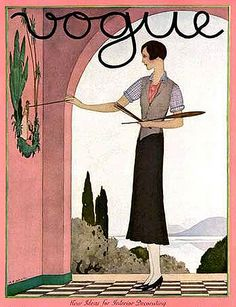 Illustration Photograph - A Vintage Vogue Magazine Cover Of A Woman by Andre E. Vintage Posters, Vintage Art, Logo Vintage, Vintage Signs, Pinturas Art Deco, Vintage Vogue Covers, Vogue Magazine Covers, Inspiration Art, Art Watercolor
