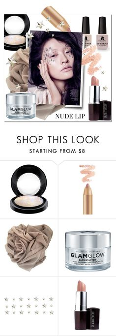 """""""beauty nude lips"""" by katymill ❤ liked on Polyvore featuring beauty, MAC Cosmetics, Victoria's Secret, GlamGlow, Laura Mercier, Beauty, nude, nudelip and faceglem"""