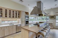 Limestone counters and floors. Memorial Villages Houston TX Real Estate - 2210 South Piney Point Rd