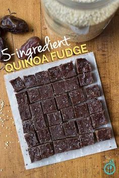 Fudgy fudge-fudge.... Seems like quinoa works in sweet stuff too.... :D