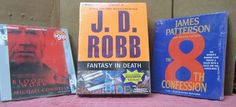 Lot of 3 AUDIO Books CDs ABRIDGED J D Robb, James Patterson, Connelly Thrillers