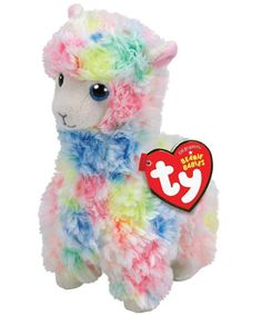 Buy TY Beanie Babies Reg Lola Multicolour Llama online or in store at Mr Toys. Browse our Ty Beanie Boos range at great prices. Ty Beanie Boos, Beanie Babies, Llama Plush, Ty Plush, Llama Llama, Baby Llama, Halloween Costume Shop, Halloween Costumes For Kids, Llama Stuffed Animal