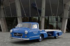 1954 Mercedes-Benz Rennwagen-Scnelltransporter 'Blue Wonder' -- the most badass truck ever. And, the fastest ever.