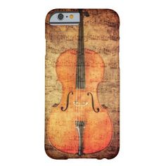 Vintager Cello Barely There iPhone 6 Hülle