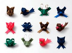 Ribbon animals! Wonderful ! The wrapping is more important than the gift inside, it infuses a store-bought thing with loooove.