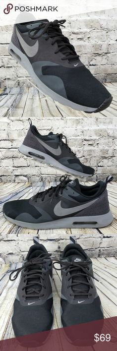 Details about Nike Air Max Tavas Black, Dark Grey & White 705149 008 Trainers UK 7 12