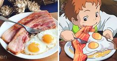 Japanese Woman Recreates Food From Miyazaki Films And Other Anime food from - Recipes Texas Chili, Miyazaki Film, Meet Recipe, Hot Dogs, Easy French Recipes, Beste Brownies, Boite A Lunch, Food Vocabulary, London Eats