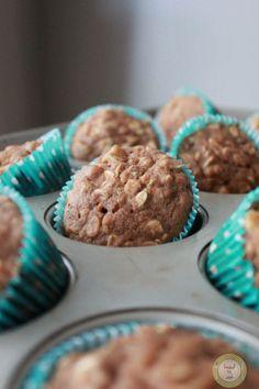 Oatmeal apple muffins. .