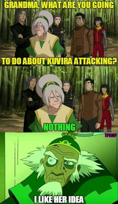 So, do all earthbenders just go this specific kind of crazy when they get old?