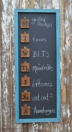 mycreativedays: DIY Menu Board