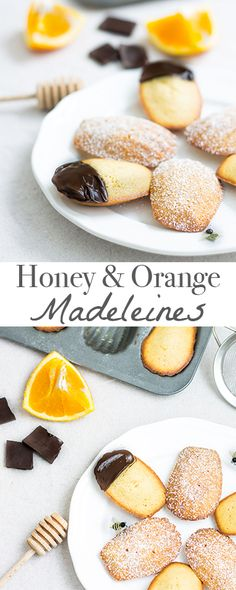 Honey and Orange madeleines - aromatic, beautiful, and absolutely delicious! Recipe via MonPetitFour.com