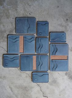Handmade Minimalist Wallet - Low Tide Leather - Groomsmen Gift -Wedding Gifts - Minimalist to traditional. Models for all personalities. Source by lowtideleather Leather Card Wallet, Handmade Leather Wallet, Leather Gifts, Diy Leather Projects, Leather Diy Crafts, Leather Craft, Leather Tutorial, Leather Working Patterns, Minimalist Leather Wallet
