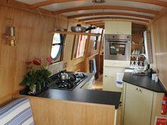 Nice units in narrowboat interior