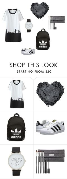 """black&white"" by malinas01 on Polyvore featuring adidas Originals, ALDO and Sephora Collection"