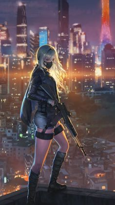 samsung wallpaper sniper girl, cityscape, anime girl … – About Anime Kawaii Anime Girl, Manga Kawaii, Cool Anime Girl, Anime Art Girl, Anime Girls, Dark Anime Girl, Manga Girl, Cyberpunk Girl, Arte Cyberpunk
