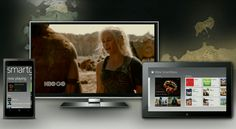 Microsoft's new XBOX SmartGlass app allows users to watch their favorite television programs with cross-references and bonus content on their tablet or smartphone. This is an example of multiplatform viewing.  http://news.softpedia.com/news/Xbox-SmartGlass-Gets-Support-for-Game-of-Thrones-Season-3-341136.shtml