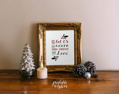 Christmas printable decor print wall art decoration, oh come let us adore him Christian holiday decor typography INSTANT DOWNLOAD