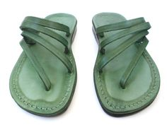 Womens Leather Sandals available in multiple colors by Sandalimshop via Etsy