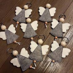 weihnachten engel on Instagr - Christmas Makes, Felt Christmas, Christmas Angels, All Things Christmas, Christmas Time, Christmas Ornaments, Felt Crafts, Diy And Crafts, Crafts For Kids