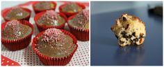Muffin con gocce di cioccolato e glassa