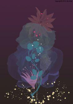 그리다 꽃 48 - 몽마르뜨 야경 - 디지털아트, 파인아트, 일러스트