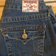 True Religion jeans True Religion size 28 Billy jeans.  Medium wash. 32 inseam.  Smoke free home. Check out my closet for great bundle discounts. True Religion Jeans Boot Cut