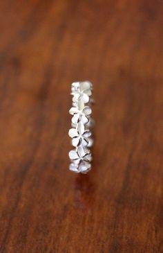 Hawaiian 925 Silver Jewelry 5mm Plumeria Flower Lei Ring Band Sizes 3-10 #SR2181 on Etsy, $24.99