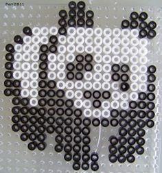 Perles Hama : Panda - Les loisirs de Pat