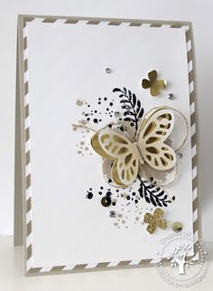 We love this card made with the Awesomely Artistic stamp set. Pretty Cards, Cute Cards, Diy Cards, Stampin Up Karten, Karten Diy, Beautiful Handmade Cards, Stamping Up Cards, Butterfly Cards, Card Making Inspiration