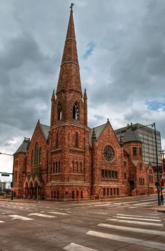 Trinity Methodist Episcopal Church on 18th and Broadway, Denver