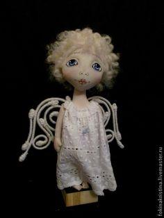 White angel. - White, angel, textile doll, Dolls, Christmas angel