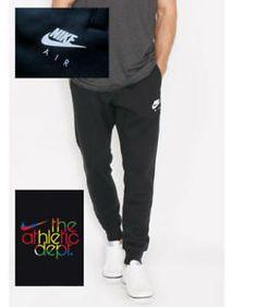 a nike air para hombre heritage sudor pantalones slim fit pantalones  deportivos trotar corredores negro 425fa826d264