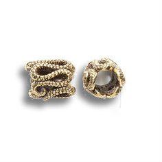 Gold Snake Pewter Dread Bead