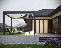 Architecture,Interior Design,Visual Effects Bungalow House Design, House Front Design, Roof Design, Exterior Design, Modern Barn House, Modern House Design, Black House Exterior, Modern Farmhouse Exterior, Container House Design