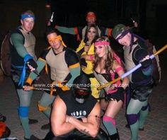 62 best ninja turtle costume ideas images on pinterest halloween cool homemade teenage mutant ninja turtles group costume solutioingenieria Image collections