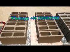 como se hacer ladrillos block bloques de cemento concreto ecologicos Bricks, Youtube, Cement Pavers, Cinder Blocks, Flower Pots, How To Make, Brick