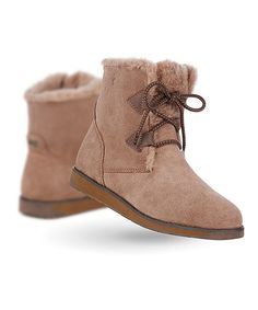 Look at this #zulilyfind! Mushroom Featherwood Mini Suede Boot - Women by EMU Australia #zulilyfinds
