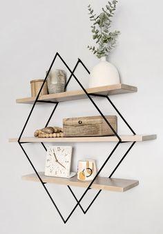 Wood & Weld by villagecraftco Wall Shelves Design, Wood Shelves, Floating Shelves, House Plants Decor, Plant Decor, Handmade Home Decor, Diy Home Decor, Living Room Decor, Bedroom Decor