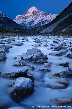 Hannah Thomas                                              • 39 weeks ago                                                                                                   Aoraki/Mount Cook after Sunset, New Zealand. Photo by Ilya Genkin