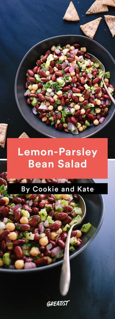 2. Lemon-Parsley Bean Salad #healthy #gameday #recipes http://greatist.com/eat/game-day-recipes-that-wont-leave-you-in-a-food-coma