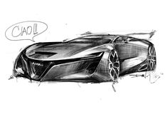 Pen Sketch, Drawing Sketches, Drawings, Car Design Sketch, Transportation Design, Line Drawing, Concept Cars, Cars And Motorcycles, Super Cars