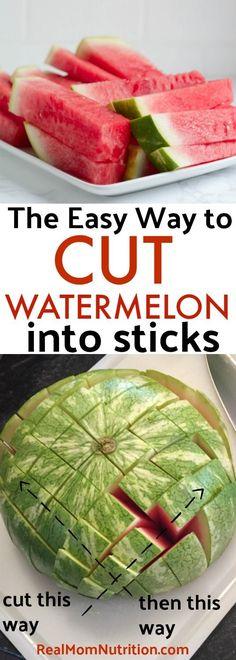 Easy way to cut watermelon sticks. Pool Snacks, Picnic Snacks, Picnic Foods, Easy Snacks, Healthy Snacks, Healthy Recipes, Picnic Ideas, Fruit Recipes, Healthy Kids
